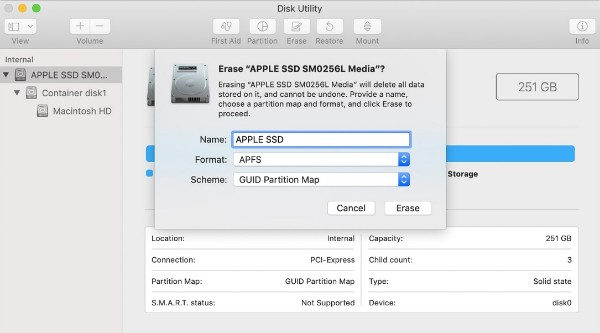 Erase Mac Hard Drive with Disk Utility