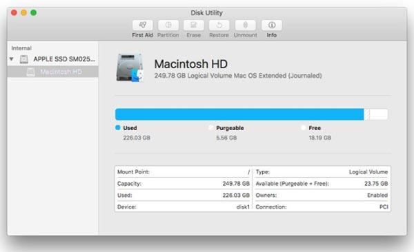 Macbook Proを消去します。