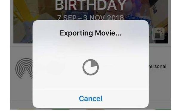 Exporter le diaporama iPhone