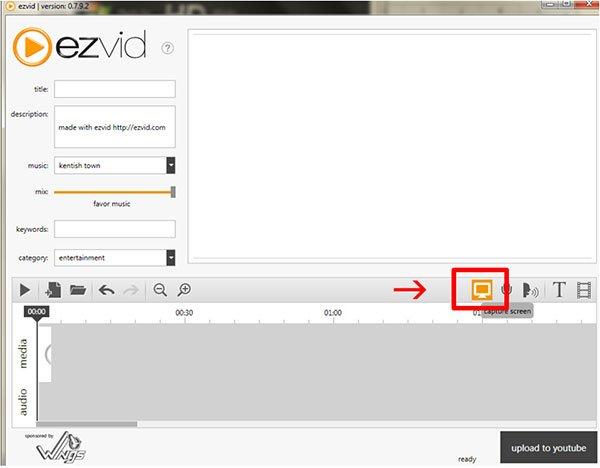 Ezvid-Bildschirmaufnahme