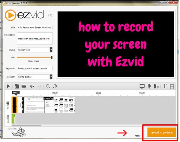Téléchargement Ezvid sur YouTube
