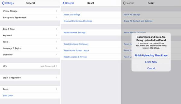 Werkseinstellungen für das iPhone
