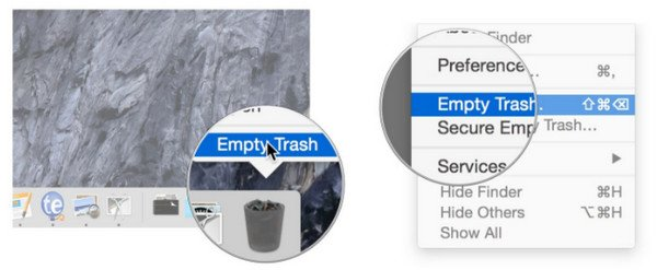 Fast empty Trash on Mac
