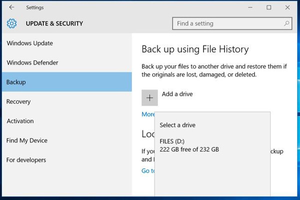 ファイルの履歴