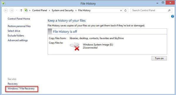 Récupération de fichier