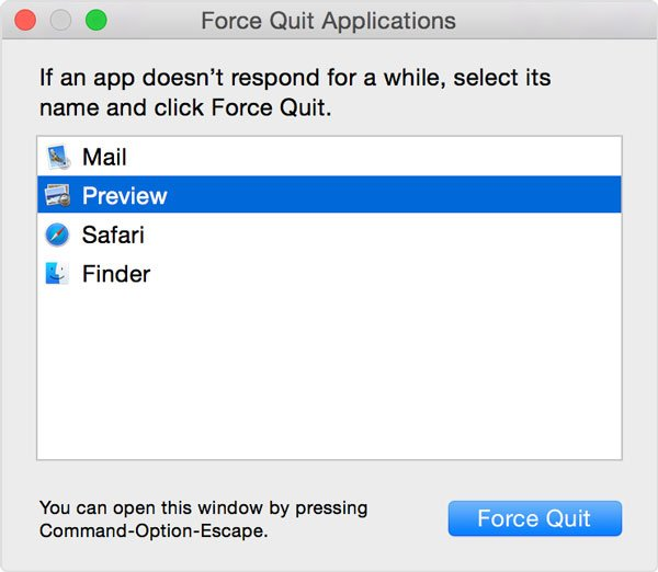 Force Quit Application