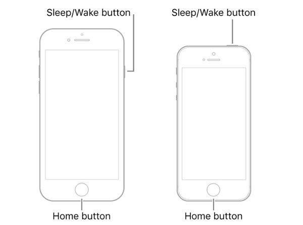 iPhone 6Sを強制的に再起動する