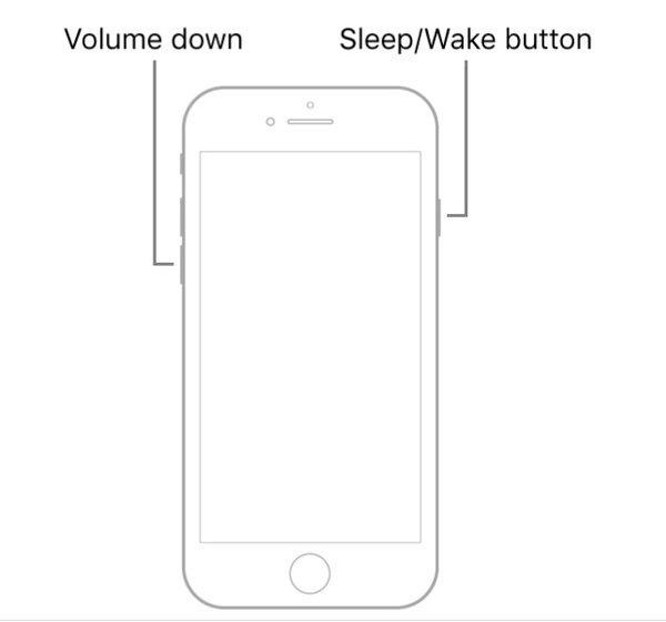 iPhone 7を強制再起動する