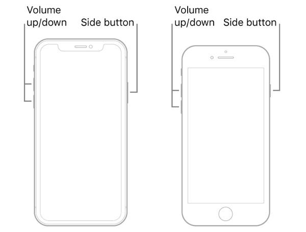 iPhoneを強制的に再起動する