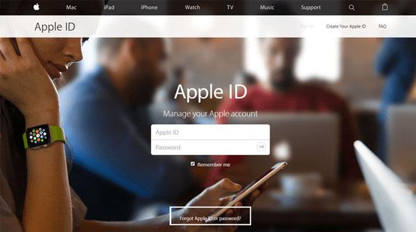 Identifiant Apple ou mot de passe oublié