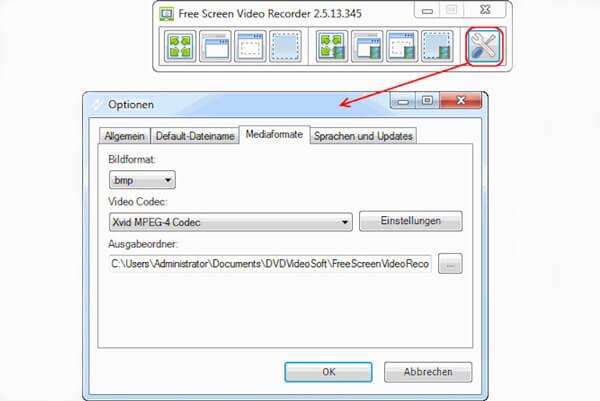 Kostenloser Bildschirm-Videorecorder