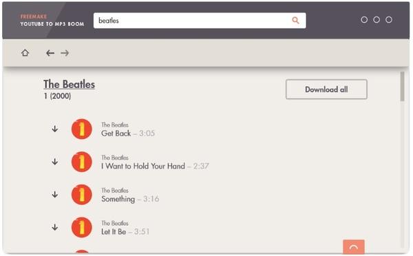 Freemake Youtube zu MP3 Boom