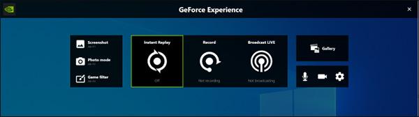 GeForce Hauptschnittstelle