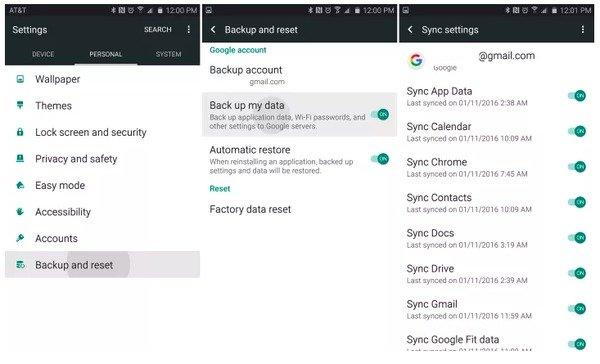 Google Backup & Restore