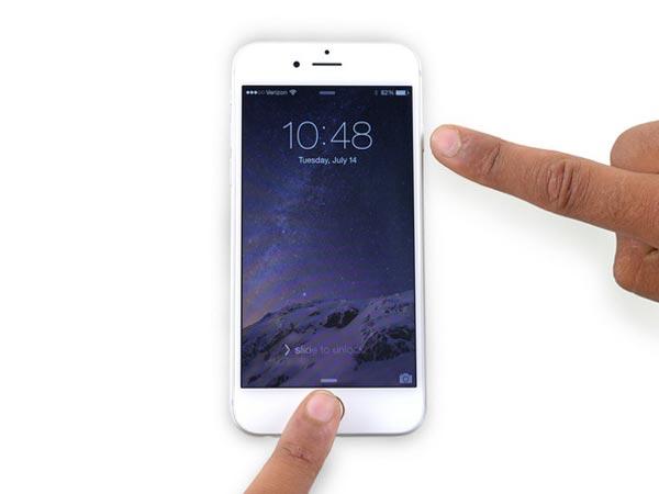 Neustart des iPhone 6