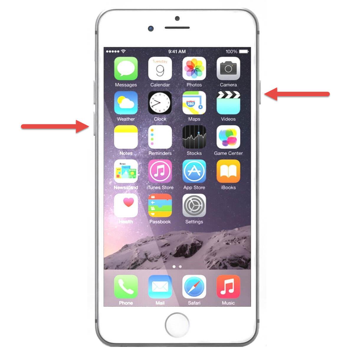 Neustart des iPhone 7