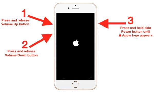 Neustart des iPhone 8