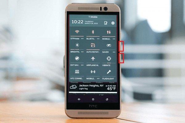 Baisser le volume du HTC