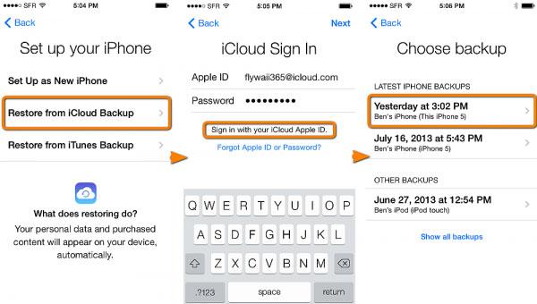 IPhone von iCloud wiederherstellen