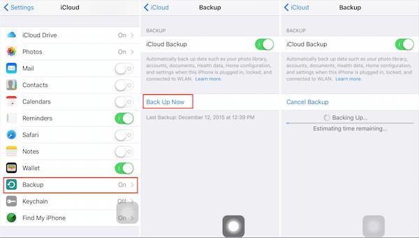 IMessages auf iCloud sichern
