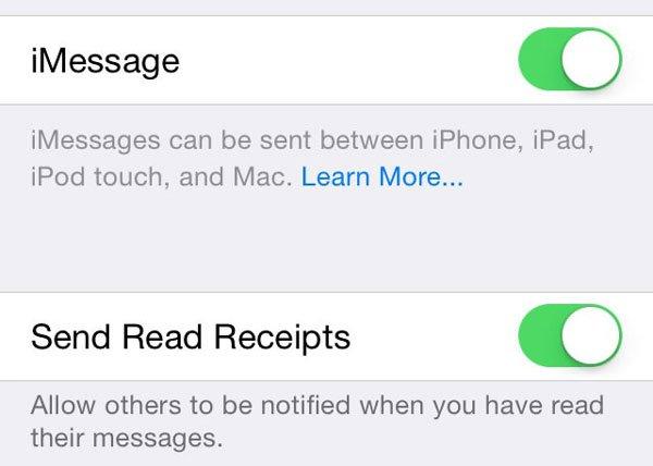 iMessageをセットアップする