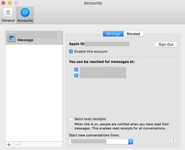 iMessage Abmelden Mac