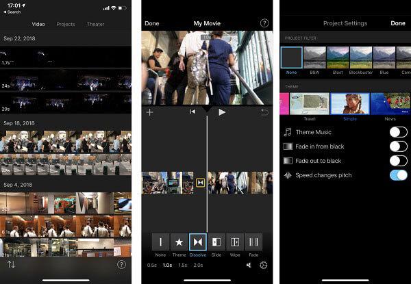 iMovie auf dem iPhone