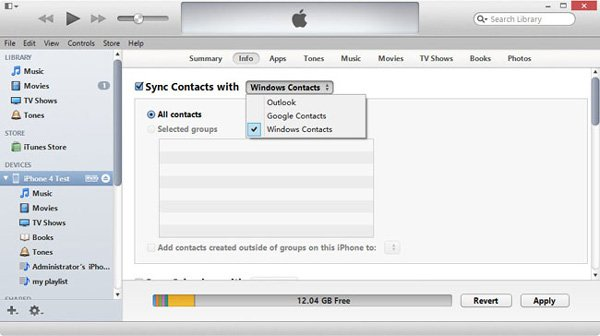 Import CSV Contacts to iPhone With iTunes