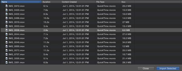 Video in iMovie auf Mac importieren