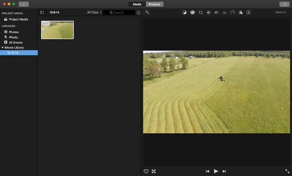 Video in iMovie importieren