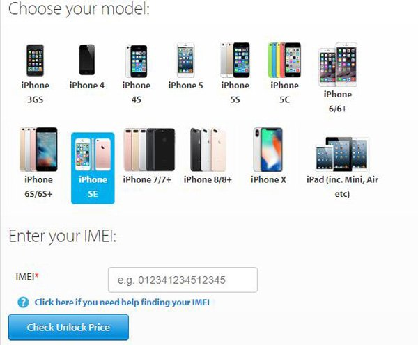 Insert You IMEI Number