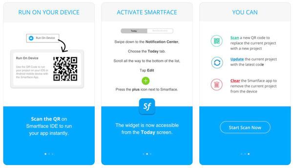 Laden Sie die Smartface App herunter