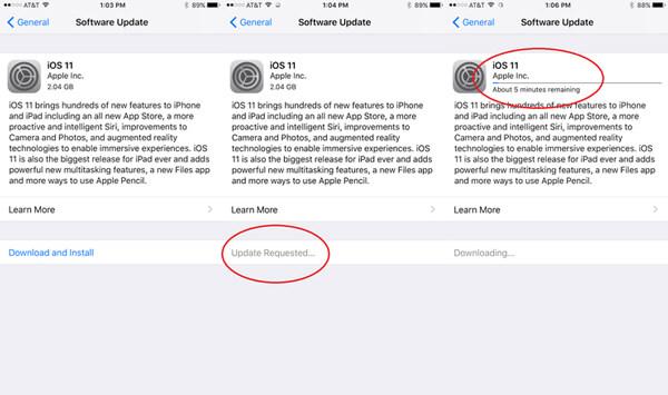 iOS mise à jour