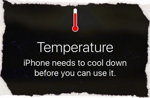 Surchauffe de l'iPhone