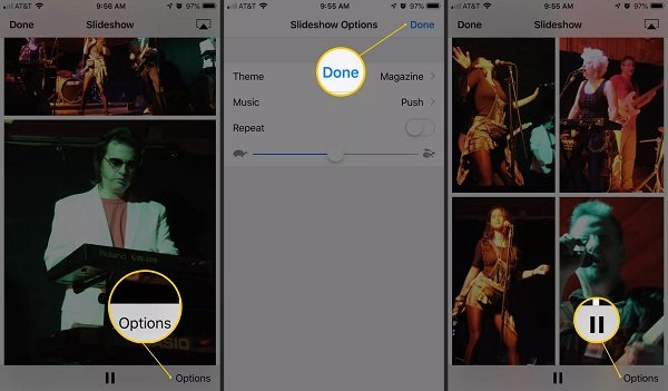 Make Slideshow on iPhone