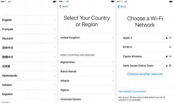 Configurer l'iPhone