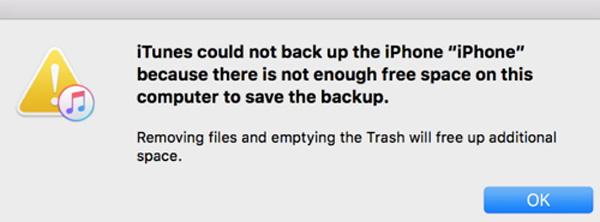 iTunesはiPhoneをバックアップできませんでした