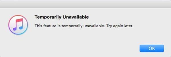 iTunes Store temporairement indisponible