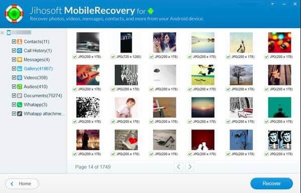 Jihosoft Android Phone-Wiederherstellung