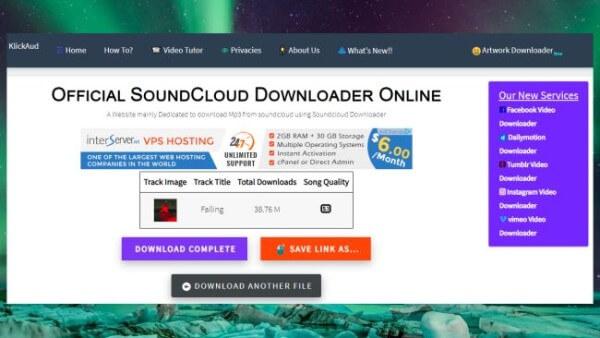 Klickaud Soundcloud zu MP3 Converter