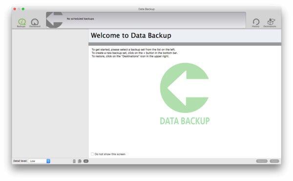 Sauvegarde de données Mac