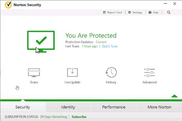 Starten Sie Norton Internet Security