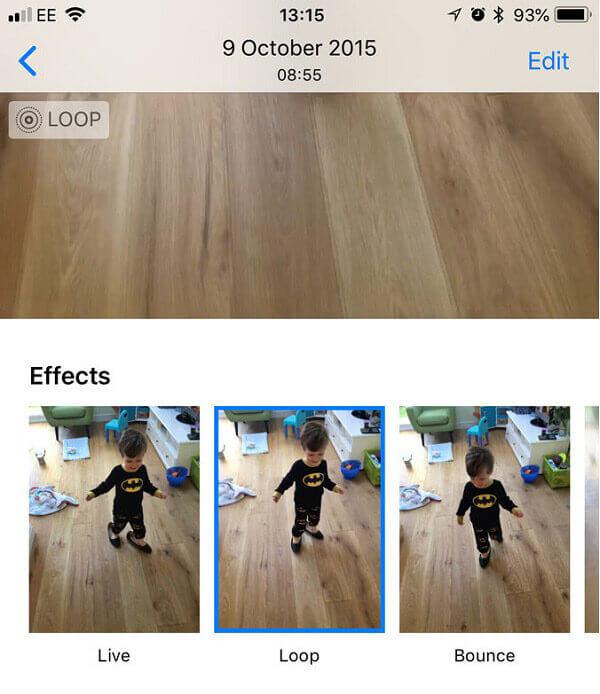 Live Photo to GIF sur iOS 11 / 12