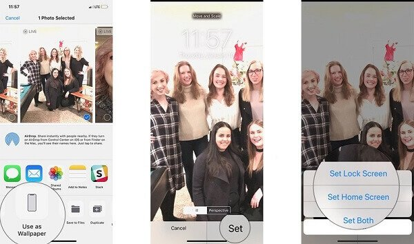 Legen Sie ein Live-Foto als Hintergrund fest