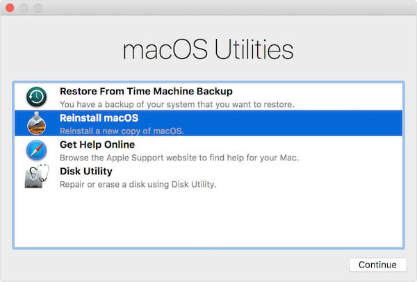 mac recovery mode option