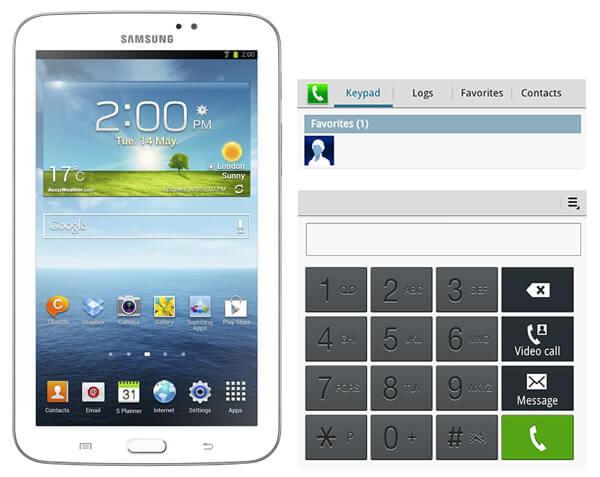 Verwenden Sie Samsung Galaxy Tab als Telefon