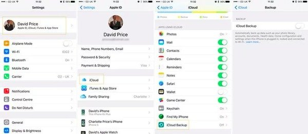 Manual Backup iPhone with iCloud
