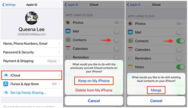 Merge Contacts iCloud