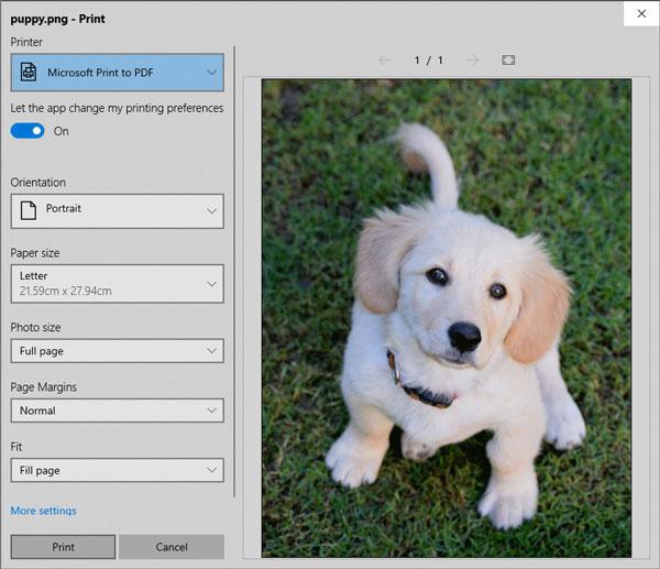 Microsoft imprimer en pdf
