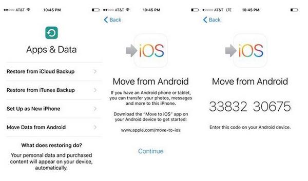 Déplacer des données depuis Android